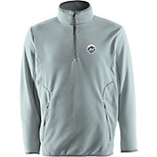Antigua Men's New York Mets Quarter-Zip Silver Ice Pullover