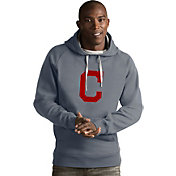 Antigua Men's Cleveland Indians Grey Victory Pullover