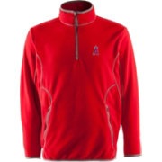Antigua Men's Los Angeles Angels Quarter-Zip Red Ice Pullover