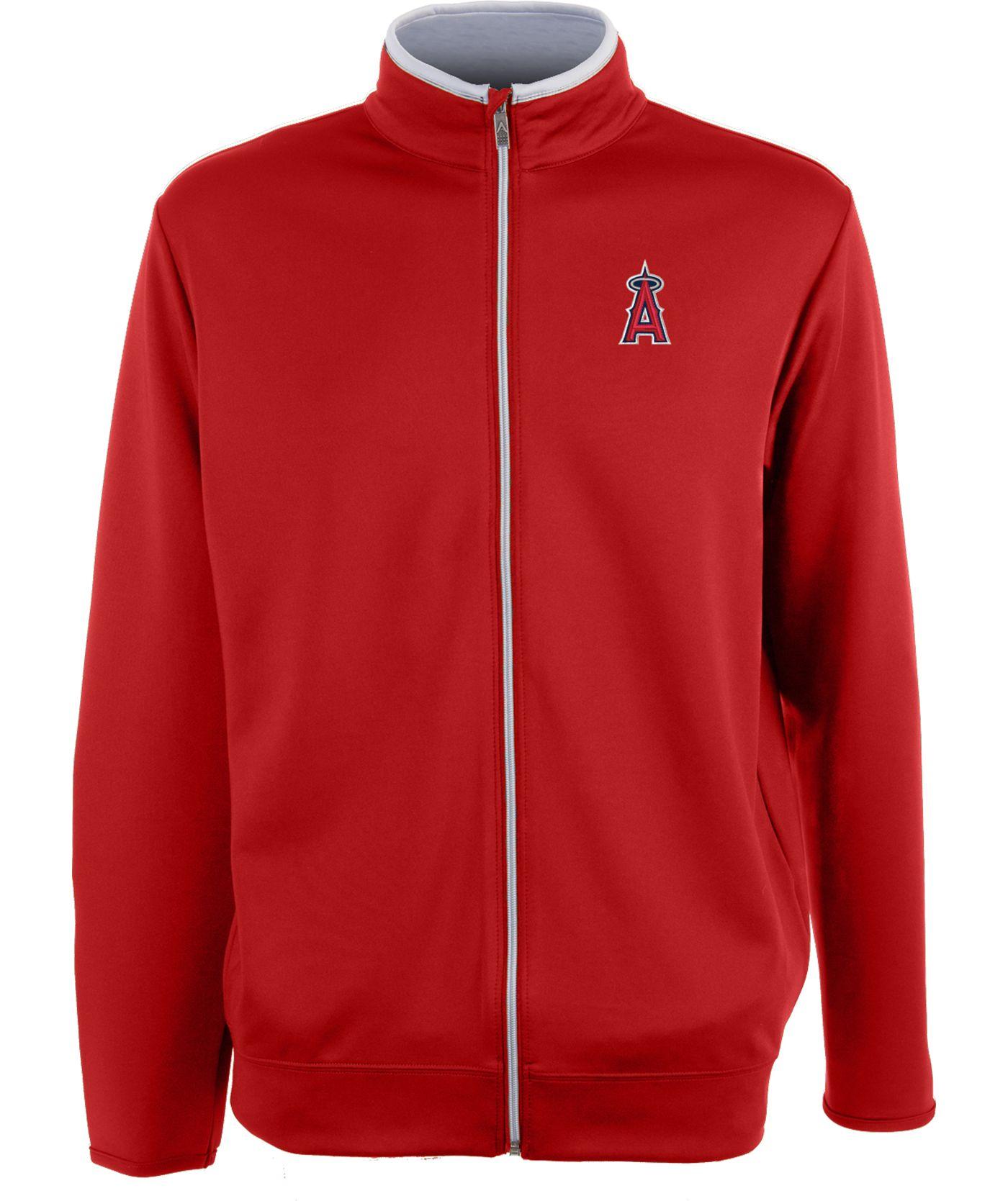 Antigua Men's Los Angeles Angels Leader Red Full-Zip Jacket