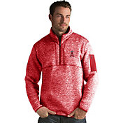 Antigua Men's Los Angeles Angels Red Fortune Half-Zip Pullover