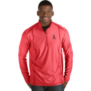 Antigua Men's Los Angeles Angels Red Tempo Quarter-Zip Pullover