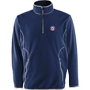Antigua Men's Washington Nationals Quarter-Zip Navy Ice Pullover