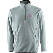 Antigua Men's Washington Nationals Quarter-Zip Silver Ice Pullover