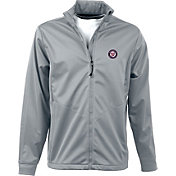 Antigua Men's Washington Nationals Full-Zip Silver Golf Jacket