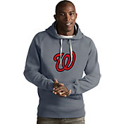 Antigua Men's Washington Nationals Grey Victory Pullover