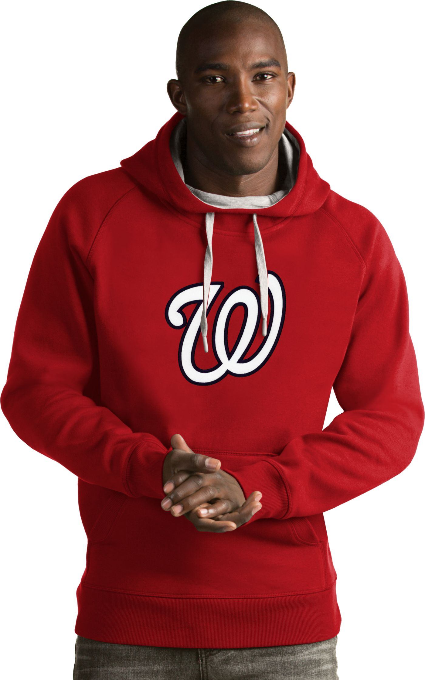 Antigua Men's Washington Nationals Red Victory Pullover