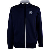 Antigua Men's San Diego Padres Leader Navy Full-Zip Jacket