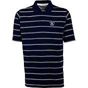 Antigua Men's San Diego Padres Deluxe Navy Striped Performance Polo