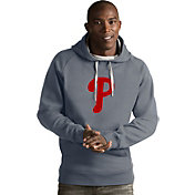 Antigua Men's Philadelphia Phillies Grey Victory Pullover