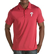 Antigua Men's Philadelphia Phillies Red Quest Performance Polo