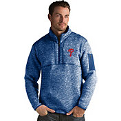 Antigua Men's Philadelphia Phillies Royal Fortune Half-Zip Pullover