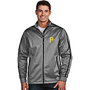 Antigua Men's Pittsburgh Pirates Grey Golf Jacket
