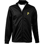Antigua Men's Pittsburgh Pirates Full-Zip Black Golf Jacket