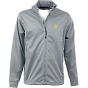 Antigua Men's Pittsburgh Pirates Full-Zip Silver Golf Jacket