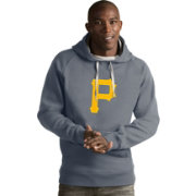 Antigua Men's Pittsburgh Pirates Grey Victory Pullover