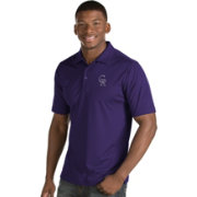 Antigua Men's Colorado Rockies Purple Inspire Performance Polo