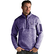 Antigua Men's Colorado Rockies Purple Fortune Half-Zip Pullover