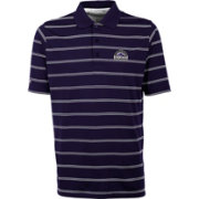 Antigua Men's Colorado Rockies Deluxe Purple Striped Performance Polo