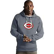 Antigua Men's Cincinnati Reds Grey Victory Pullover