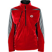Antigua Men's Cincinnati Reds Pullover Red Discover Jacket