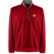 Antigua Men's Cincinnati Reds Leader Quarter-Zip Red Pullover