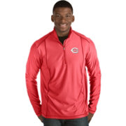 Antigua Men's Cincinnati Reds Red Tempo Quarter-Zip Pullover