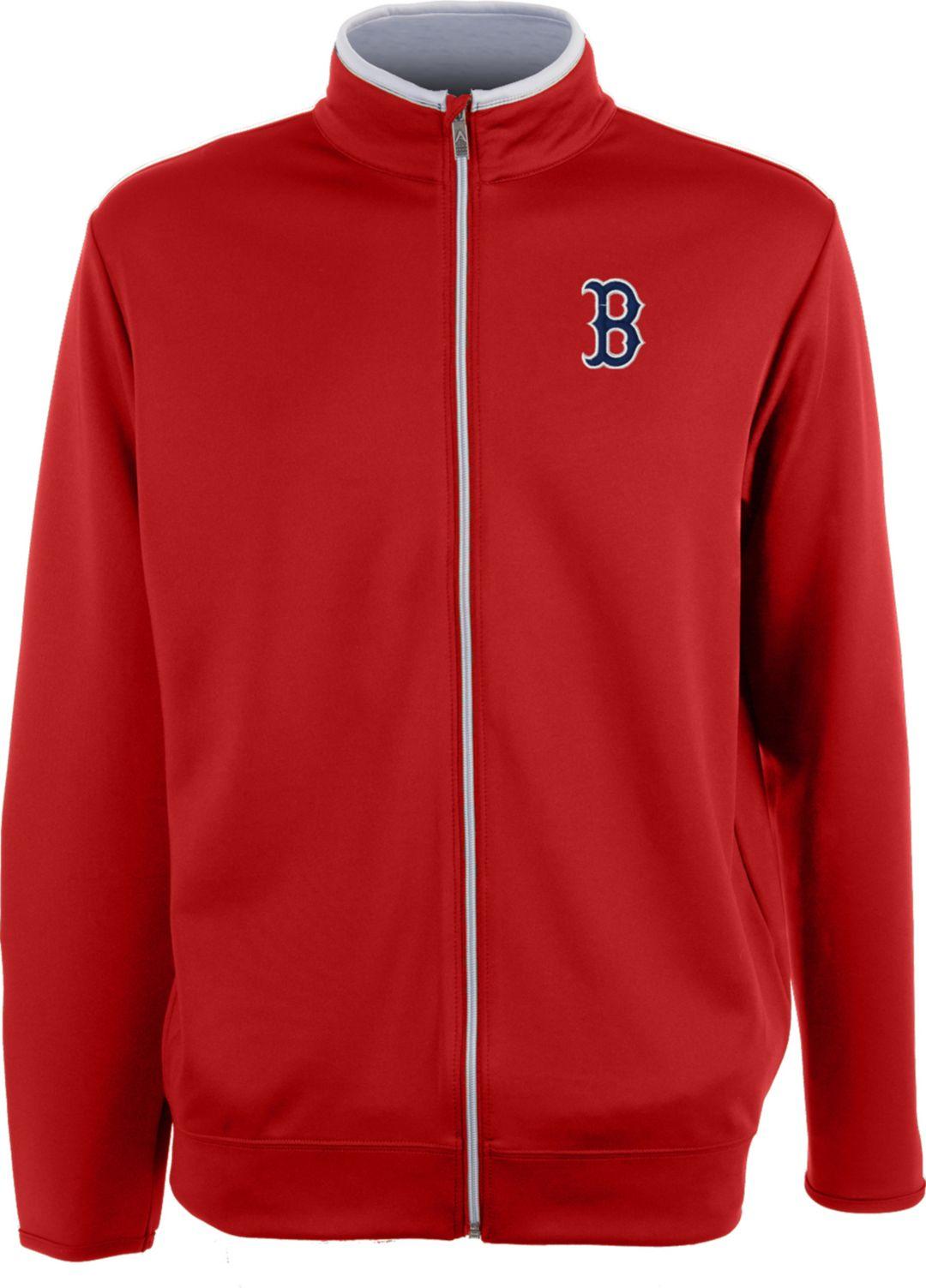 cheap for discount e12e6 09029 Antigua Men's Boston Red Sox Leader Red Full-Zip Jacket