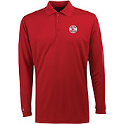 Antigua Men's Boston Red Sox Exceed Red  Long Sleeve Performance Polo