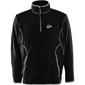 Antigua Men's Baltimore Orioles Quarter-Zip Black Ice Pullover
