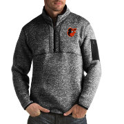 Antigua Men's Baltimore Orioles Fortune Black Half-Zip Pullover