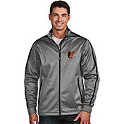 Antigua Men's Baltimore Orioles Grey Golf Jacket