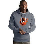 Antigua Men's Baltimore Orioles Grey Victory Pullover