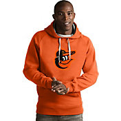 Antigua Men's Baltimore Orioles Orange Victory Pullover