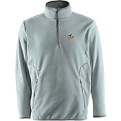 Antigua Men's Baltimore Orioles Quarter-Zip Silver Ice Pullover