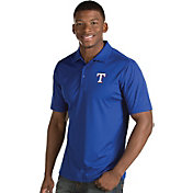 Antigua Men's Texas Rangers Royal Inspire Performance Polo