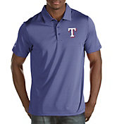 Antigua Men's Texas Rangers Royal Quest Performance Polo