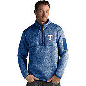 Antigua Men's Texas Rangers Royal Fortune Half-Zip Pullover