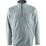 Antigua Men's Texas Rangers Quarter-Zip Silver Ice Pullover
