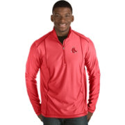 Antigua Men's Boston Red Sox Red Tempo Quarter-Zip Pullover