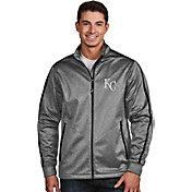 Antigua Men's Kansas City Royals Grey Golf Jacket