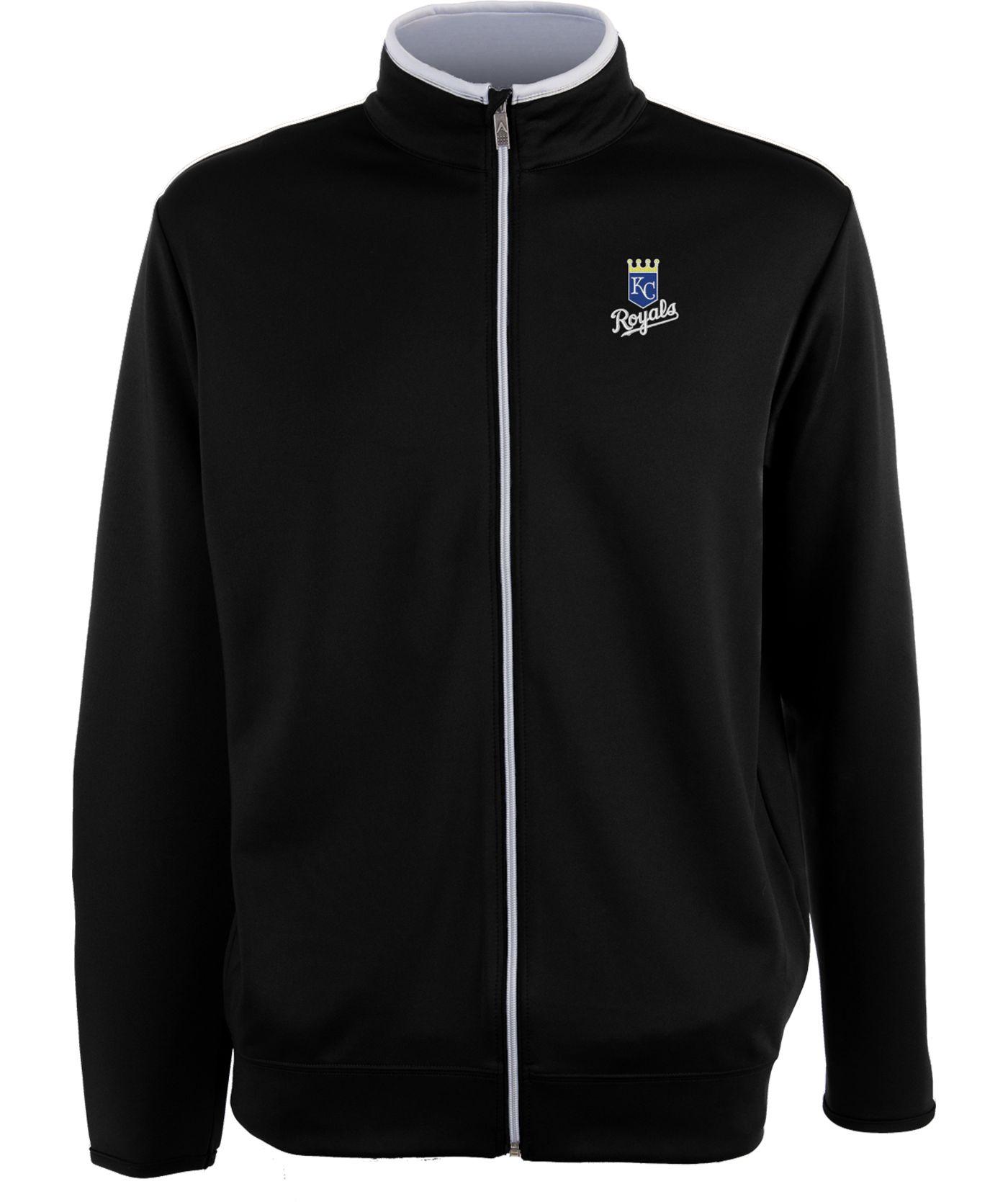 Antigua Men's Kansas City Royals Leader Black Full-Zip Jacket