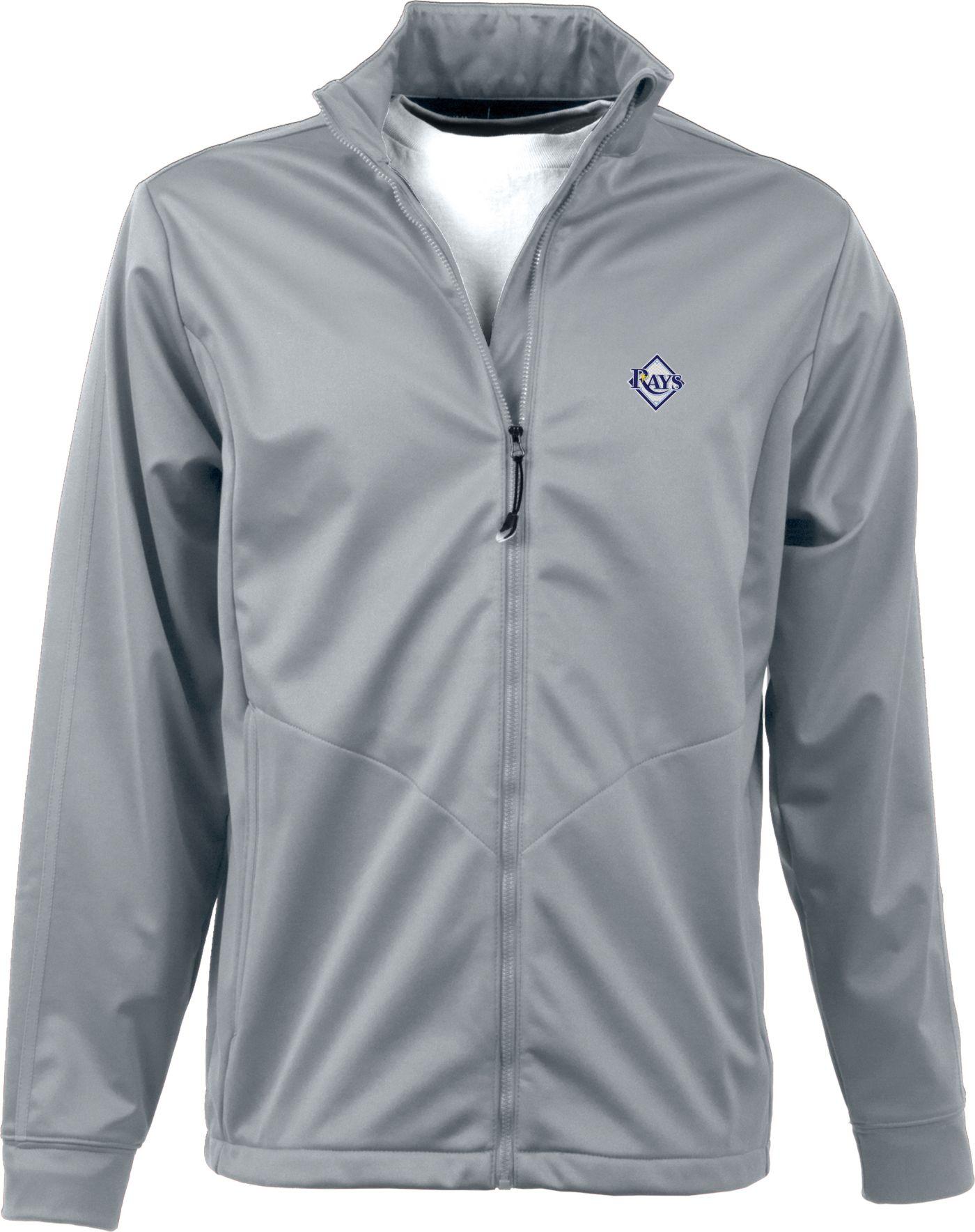 Antigua Men's Tampa Bay Rays Full-Zip Silver Golf Jacket