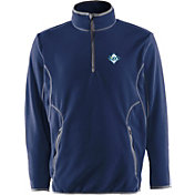 Antigua Men's Tampa Bay Rays Quarter-Zip Navy Ice Pullover