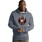 Antigua Men's Houston Astros Grey Victory Pullover