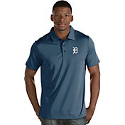 Antigua Men's Detroit Tigers Navy Quest Performance Polo