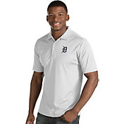 Antigua Men's Detroit Tigers White Inspire Performance Polo