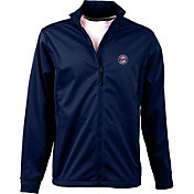 Antigua Men's Minnesota Twins Full-Zip Navy Golf Jacket
