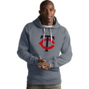 Antigua Men's Minnesota Twins Grey Victory Pullover
