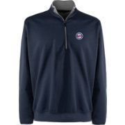 Antigua Men's Minnesota Twins Leader Navy Quarter-Zip Pullover